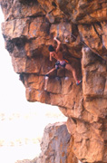 Kim Carrigan on the 1st ascent of Anxiety Direct (27)