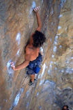 Tim Deijkers sending Jet Lag (29),The Flight Deck, Mt Arapiles, earlier this year the day before his 16th Birthday.