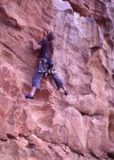 Gareth ticks the second ascent of Twisted Horizons 20m 21.