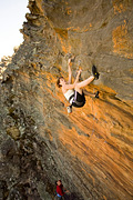 Cath DeVaus on the short punchy sport route of Line of Sight (23)