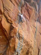 Neil Monteith ticks the onsight of this semi trad route Pocket Full Of Dreams (23).