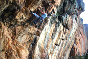 Neil Monteith seconds the first ascent of Reversing Peregrines (23)