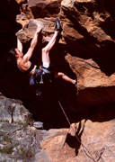 Jaqui Middleton on the lower moves of the very steep Army of Ants (27)