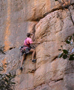 Michael leading Overkill, grade 17, Back Wall.