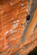 Kent enters the crux sequence of Mr Joshua (25), Taipan Wall