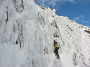 John climbs some of the best water ice that Australia has to offer on Mt Buller