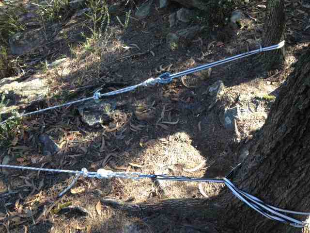 how to set up a top rope anchor with webbing